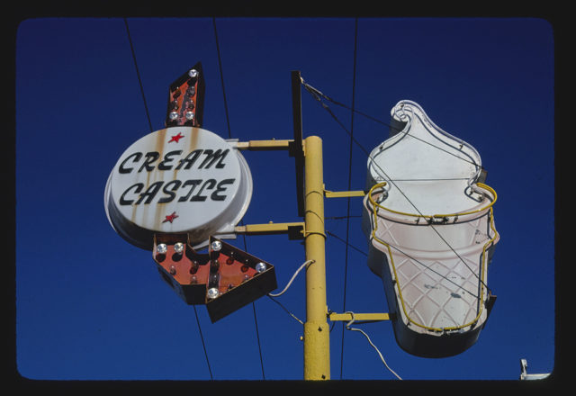 Cream Castle ice cream sign, W. Malone, Sikeston, Missouri (LOC)