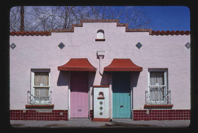 Del Camino Motel, closer frontal view, Route 80, El Paso, Texas (LOC)