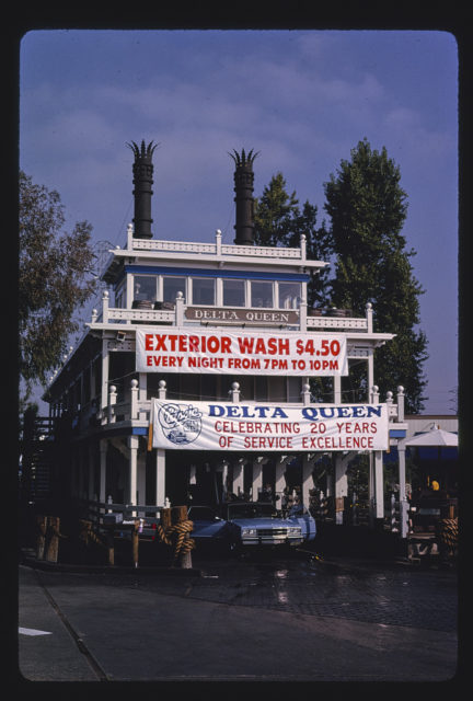 Delta Queen Car Wash, front view, Hamilton Avenue near Bascom, Campbell, California (LOC)