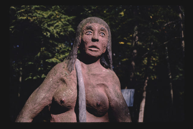 Dinosaur Gardens cave woman, Route 27, Ossineke, Michigan (LOC)