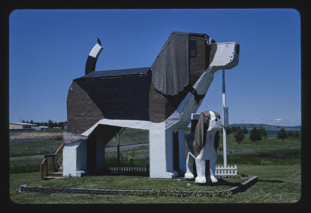 Dog Bark Park, front view 1, Route 95, Cottonwood, Idaho (LOC)