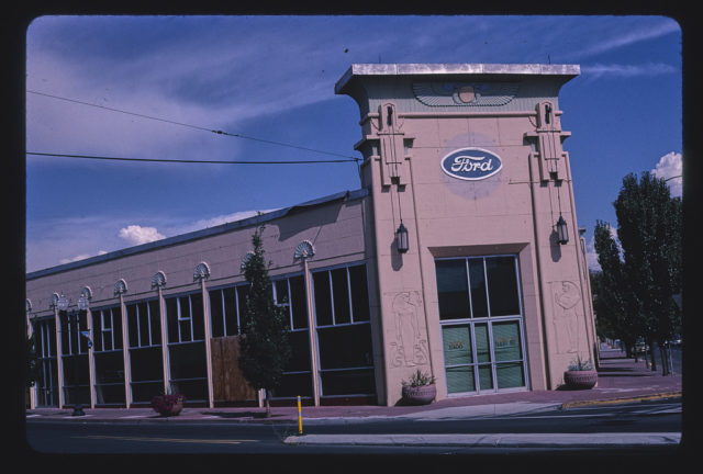 Ford Dealership, horizontal view overall, 1300 Main Street, Klamath Falls, Oregon (LOC)