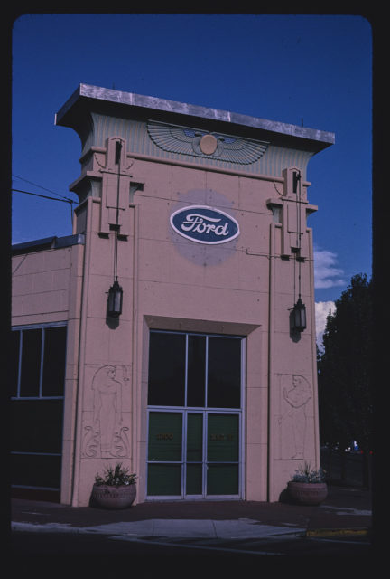 Ford Dealership, vertical view 1, 1300 Main Street, Klamath Falls, Oregon (LOC)