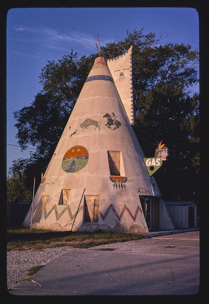 Teepee gas station, Route 40, Lawrence, Kansas (LOC)