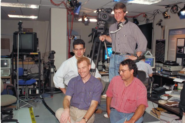 'Life from other Worlds' with McNair Middle School TROV robot explores under Antarctic ice - image of Wade Sisler, Jay Schiebe, Ken Saba and ARC-1993-AC93-0608-35