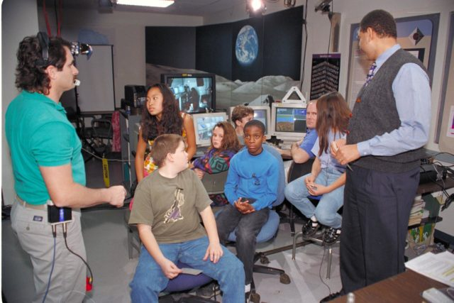 'Life from other Worlds' with McNair Middle School TROV robot explores under Antarctic ice - Donald James speaks to on site & virtual students ARC-1993-AC93-0608-86