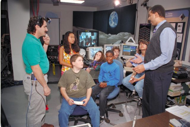 'Life from other Worlds' with McNair Middle School TROV robot explores under Antarctic ice - Donald James speaks to on site & virtual students ARC-1993-AC93-0608-87