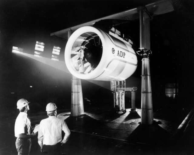 Engine test in Ames Full-Scale Aerodynamic Complex
