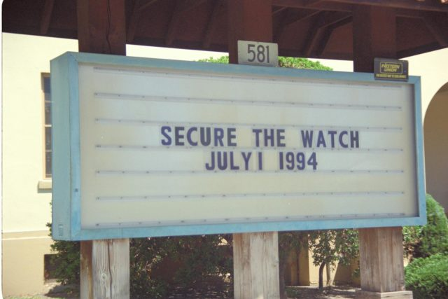 Secure the Watch July 1, 1994' Navy Disestablishment Ceremony of NAS Moffett Field 1933 - 1994 ARC-1969-AC94-0273-44
