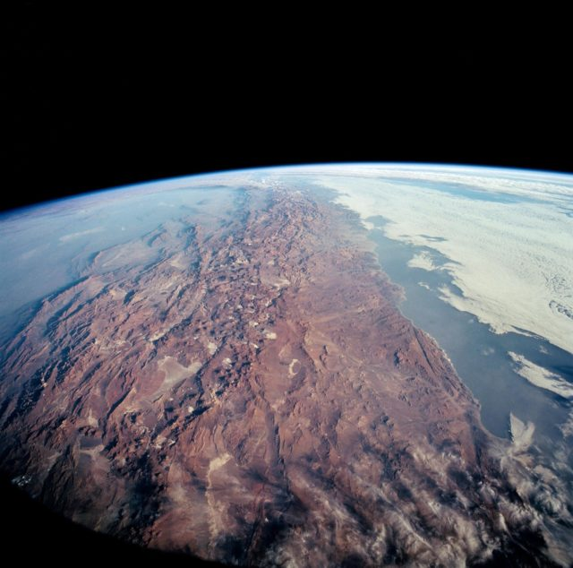 STS-65 Earth observation of Northern Chile & Andes Mtns taken from OV-102