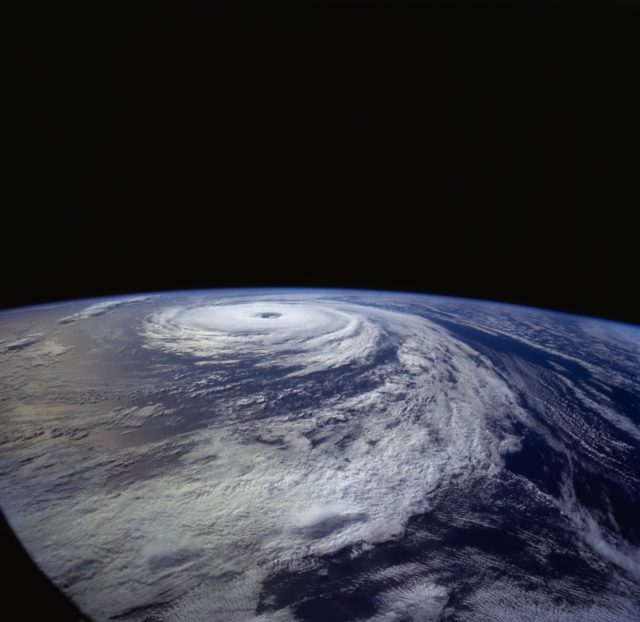 Hurricane Florence as seen from STS-66 shuttle Atlantis