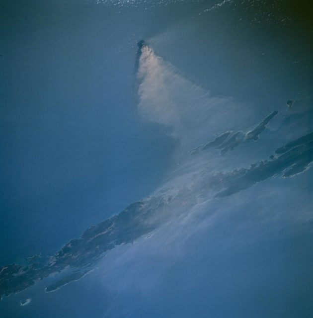 Barren Island west of Malaysia as seen from STS-67 Endeavour