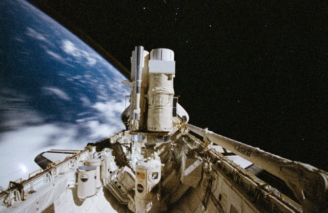 ASTRO-2 payload in Space Shuttle Endeavour's cargo bay