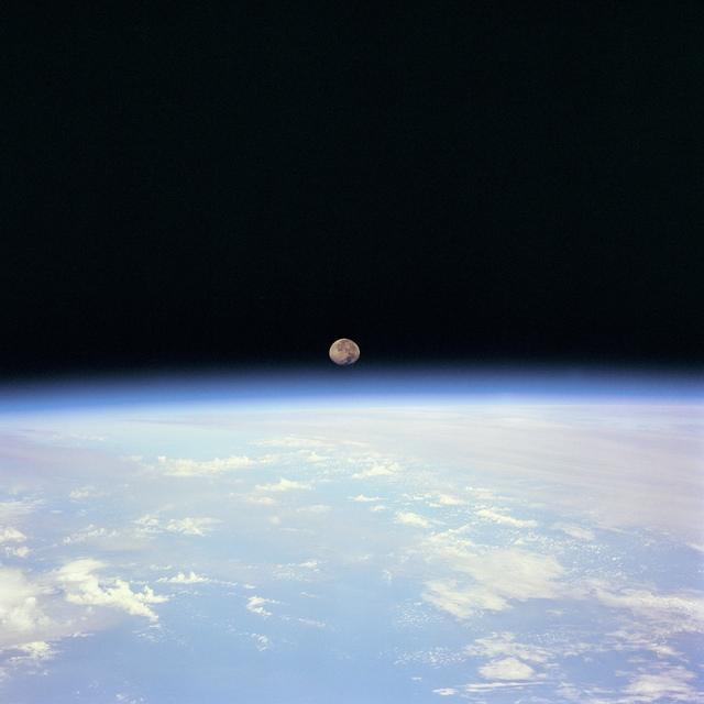 Moon Set over Earth
