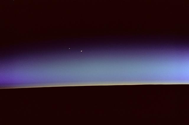Orbital Sunrise with Venus and Mars