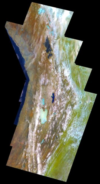Earth - False Color Mosaic of the Andes