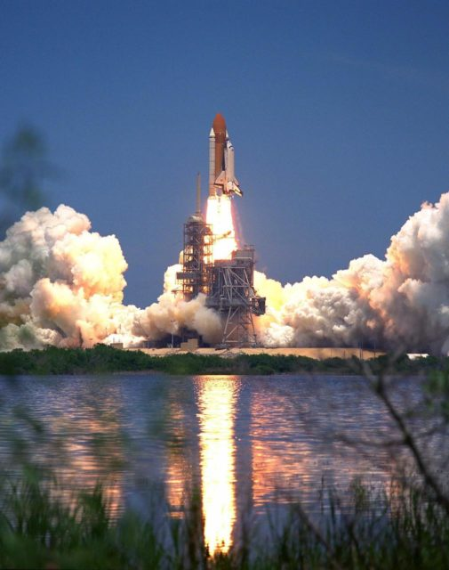 KENNEDY SPACE CENTER, Fla. -- The Space Shuttle Columbia soars from Launch  Pad 39A at 2:02 p.m. EDT July 1 to begin the 16-day STS-94 Microgravity Science  Laboratory-1 (MSL-1) mission. The launch window was opened 47 minutes earlier than  the originally scheduled time of 2:37 p.m. to improve the opportunity to lift off before  Florida summer rain showers reached the space center. The  crew members are Mission  Commander James D. Halsell Jr.; Pilot Susan L. Still; Payload Commander Janice Voss;  Mission Specialists Michael L.Gernhardt and Donald A. Thomas; and Payload Specialists  Roger K. Crouch and Gregory T. Linteris. During the space flight, the MSL-1 will be  used to test some of the hardware, facilities and procedures that are planned for use on the  International Space Station while the flight crew conducts combustion, protein crystal  growth and materials processing experiments. Also onboard is the Hitchhiker Cryogenic  Flexible Diode (CRYOFD) experiment payload, which is attached to the right side of  Columbia's payload bay. These payloads had previously flown on the STS-83 mission in  April, which was cut short after nearly four days because of indications of a faulty fuel  cell. STS-94 is a reflight of that mission KSC-97PC961