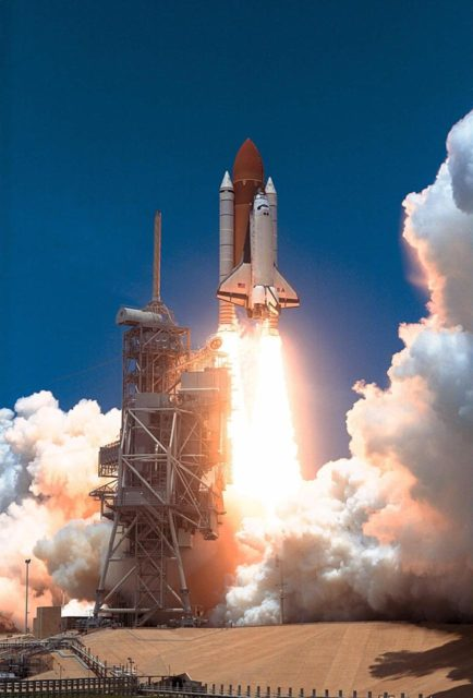 KENNEDY SPACE CENTER, Fla. -- The Space Shuttle Columbia soars from Launch  Pad 39A at 2:02 p.m. EDT July 1 to begin the 16-day STS-94 Microgravity Science  Laboratory-1 (MSL-1) mission. The launch window was opened 47 minutes earlier than  the originally scheduled time of 2:37 p.m. to improve the opportunity to lift off before  Florida summer rain showers reached the space center. The  crew members are Mission  Commander James D. Halsell Jr.; Pilot Susan L. Still; Payload Commander Janice Voss;  Mission Specialists Michael L.Gernhardt and Donald A. Thomas; and Payload Specialists  Roger K. Crouch and Gregory T. Linteris. During the space flight, the MSL-1 will be  used to test some of the hardware, facilities and procedures that are planned for use on the  International Space Station while the flight crew conducts combustion, protein crystal  growth and materials processing experiments. Also onboard is the Hitchhiker Cryogenic  Flexible Diode (CRYOFD) experiment payload, which is attached to the right side of  Columbia's payload bay. These payloads had previously flown on the STS-83 mission in  April, which was cut short after nearly four days because of indications of a faulty fuel  cell. STS-94 is a reflight of that mission KSC-97PC965