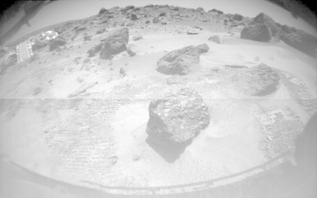 A Rover-eye view of the Lander