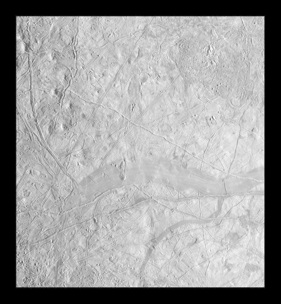 Regional Mosaic of Chaos and Gray Band on Europa