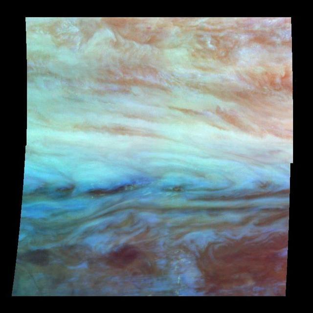 False Color Mosaic of Jupiter Belt-Zone Boundary