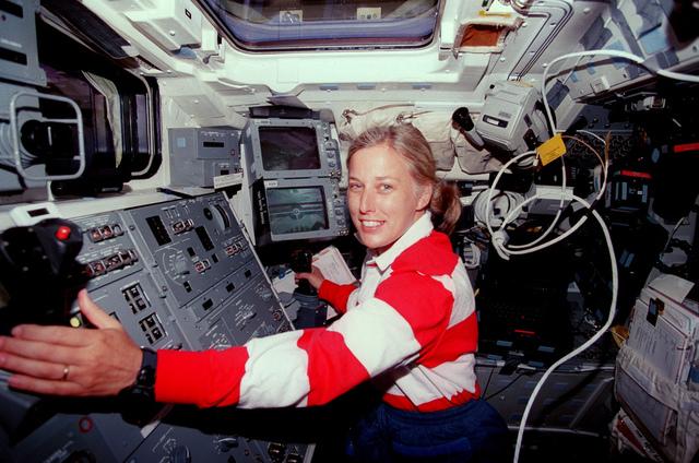 Astronaut Davis At Work