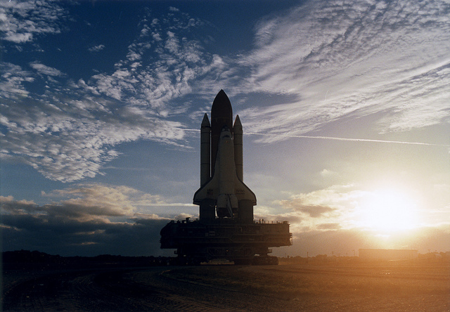 STS-82 Rollout