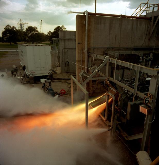 Test Firing of Linear Aerospike Engine