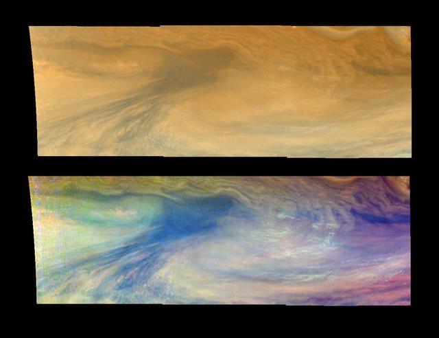 A Jovian Hotspot in True and False Colors Time set 1