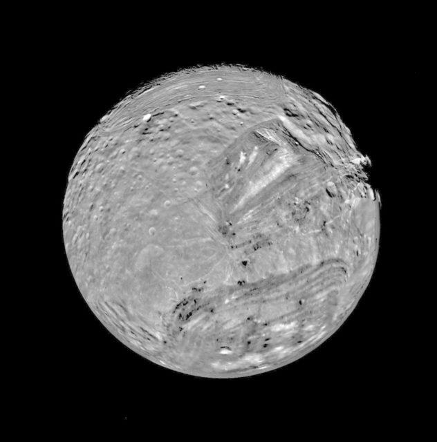 South Polar View of Miranda