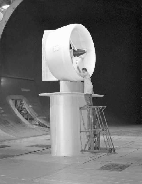 Bell Full-Scale X-22A Ducted Fan with Semi-Span Mount in