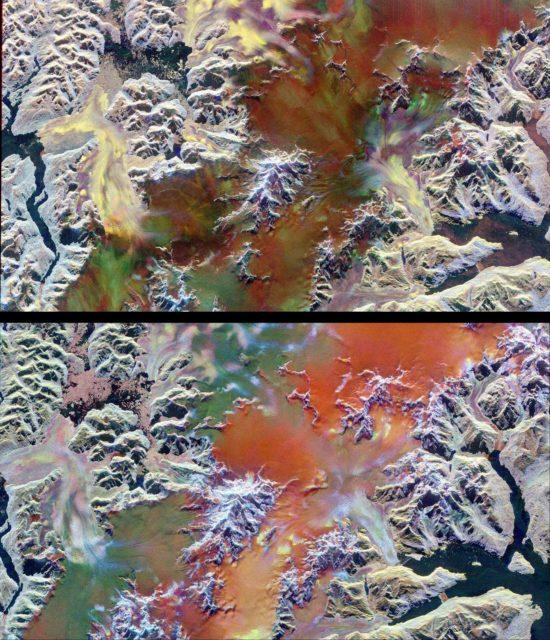 Space Radar Image of Patagonian Ice Fields