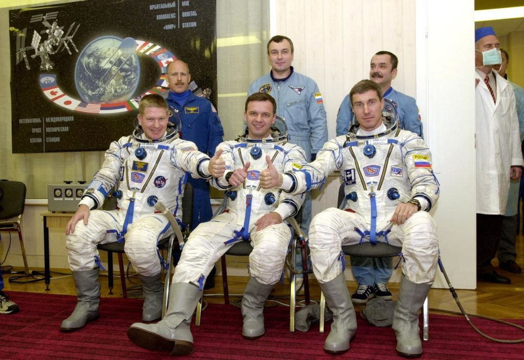 Expedition One crew with backup crewmembers