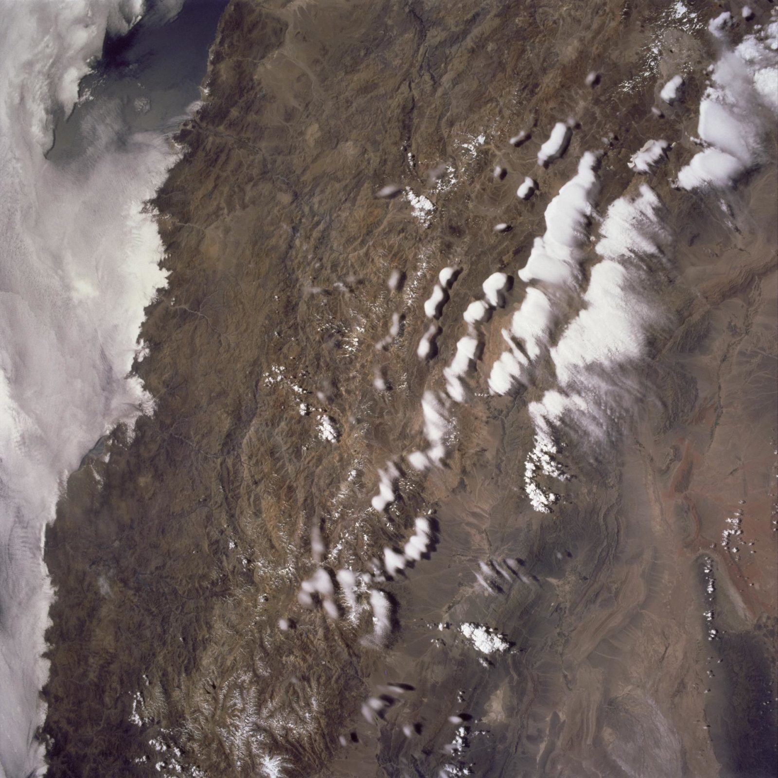 Earth observations of the Andes Mountains taken during the STS-97 mission