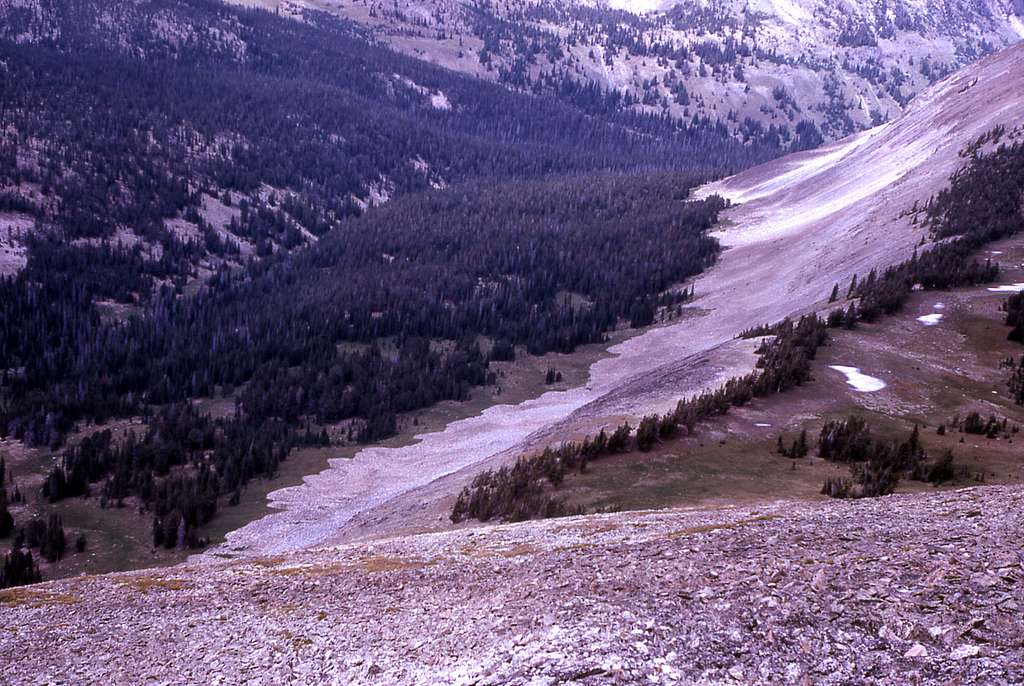 Rock glaciers that begin to form along the Mt Holmes trail