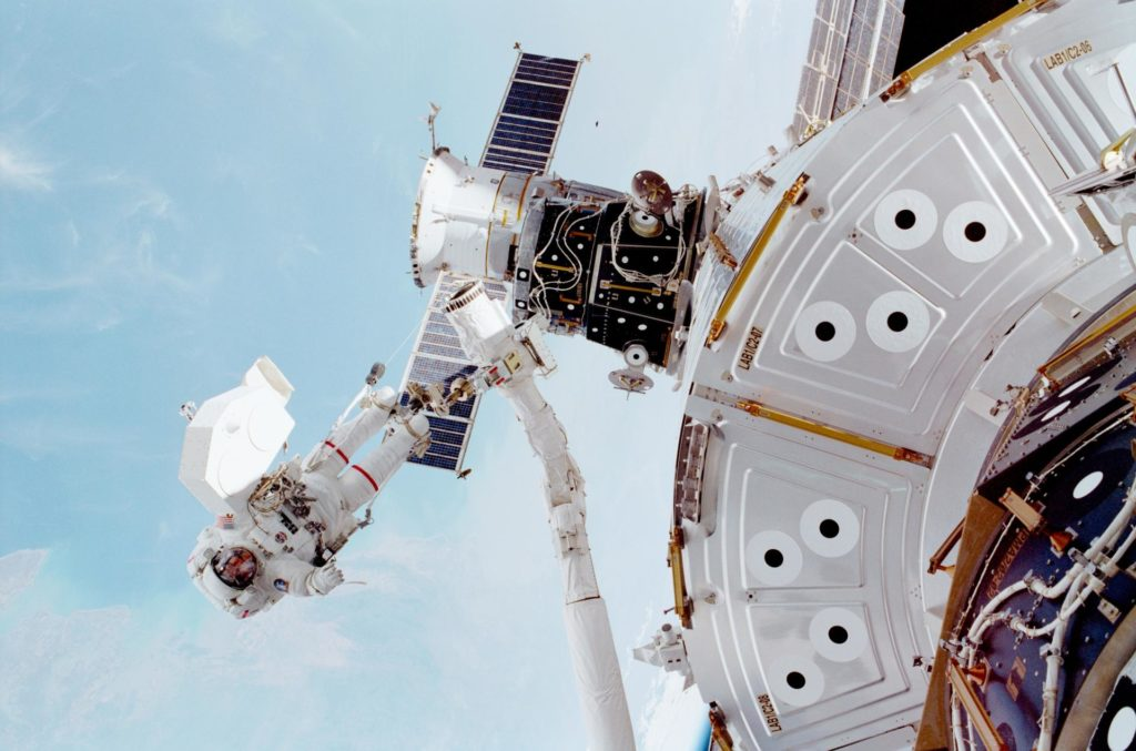 EVA view taken during STS-102