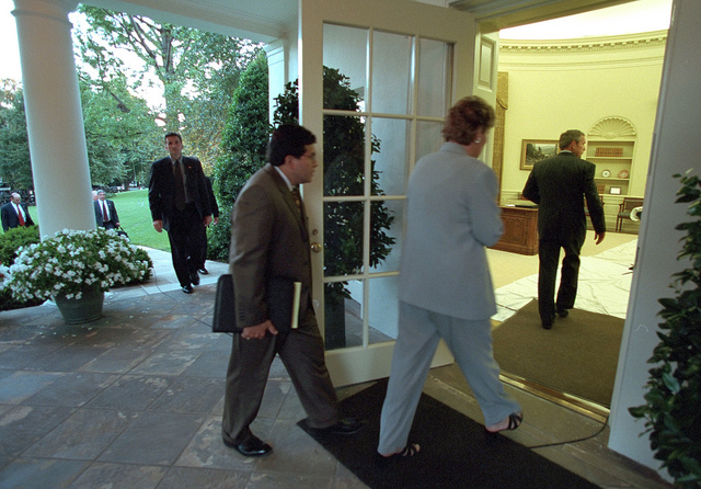 911: President George W. Bush and White House Arrival, 09/11/2001.