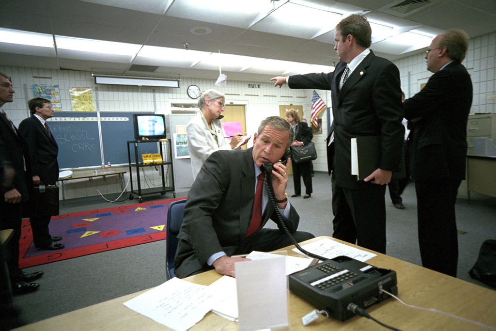 911: President George W. Bush Receives Information Regarding Terrorist Attacks, 09/11/2001.