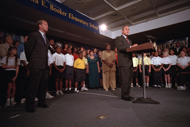 911: President George W. Bush - Remarks to the Nation, 09/11/2001.