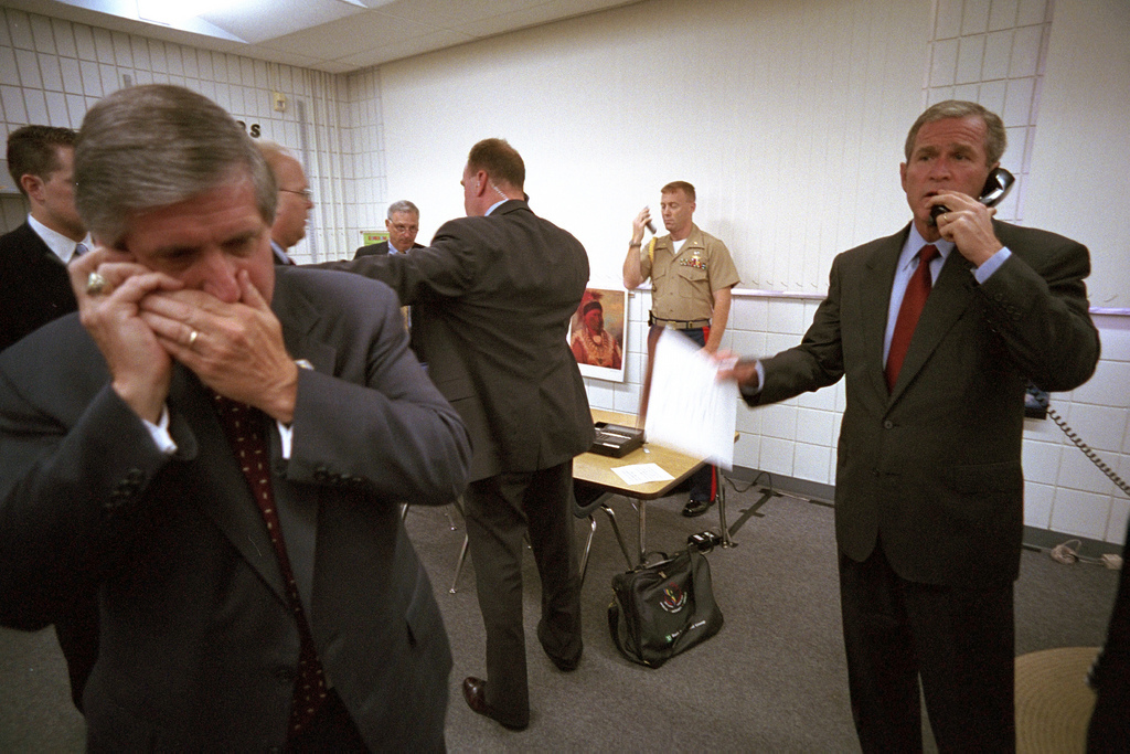 911: President George W. Bush Speaks on the Telephone, 09/11/2001.