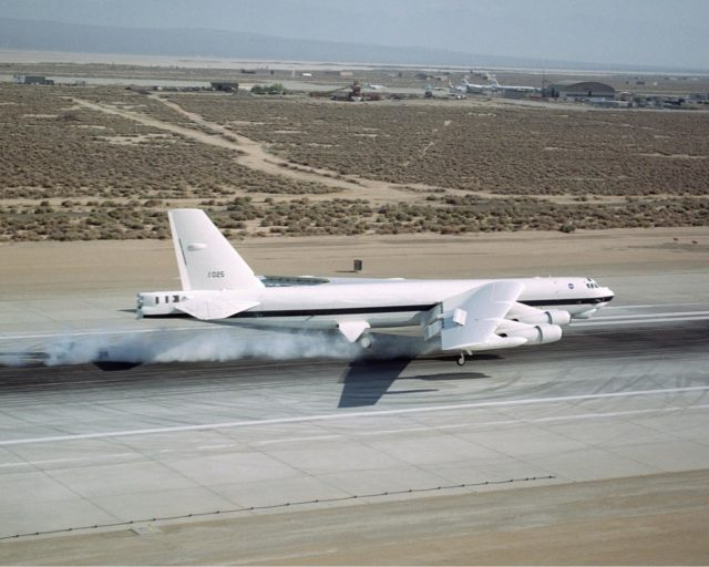 B-52H over Dryden Flight Research Center EC02-0083-1