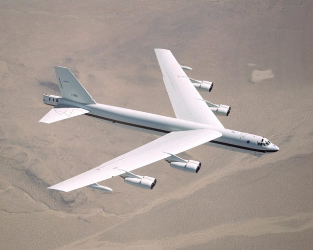 NASA Dryden's B-52H in flight. EC02-0083-12