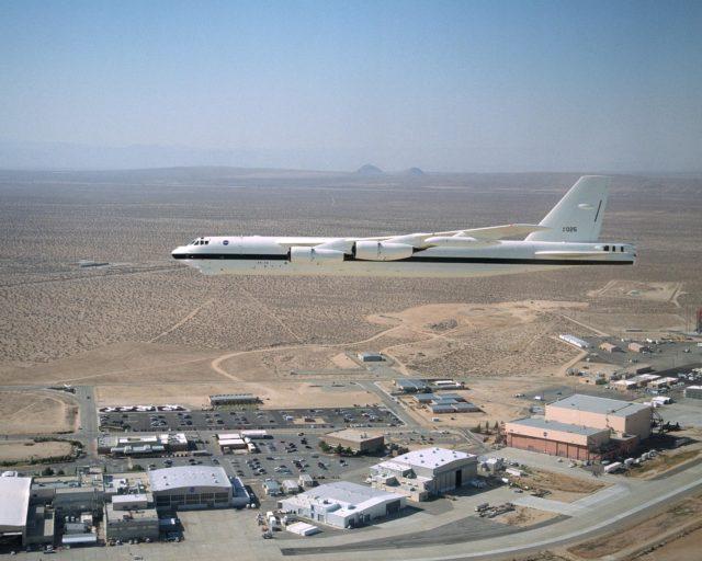 B-52H over Dryden Flight Research Center EC02-0083-2