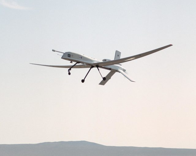 The remotely piloted Altus II aircraft probed lightning development with a variety of specialized instruments and cameras during a month-long study over Florida during the summer of 2002. EC02-0162-58