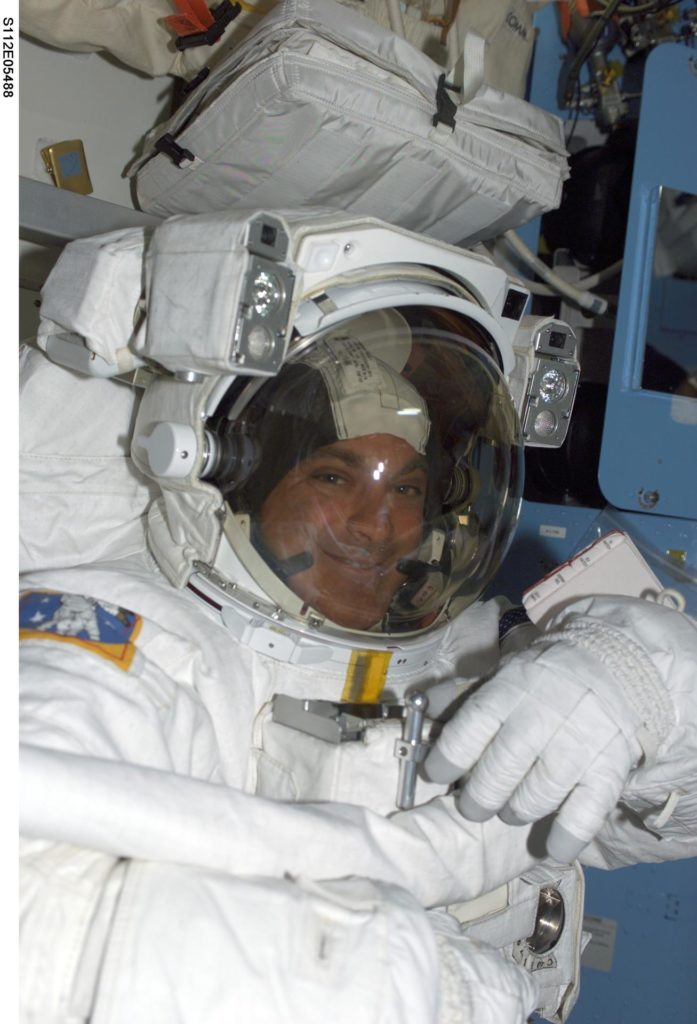 MS Wolf in airlock prior to EVA 3