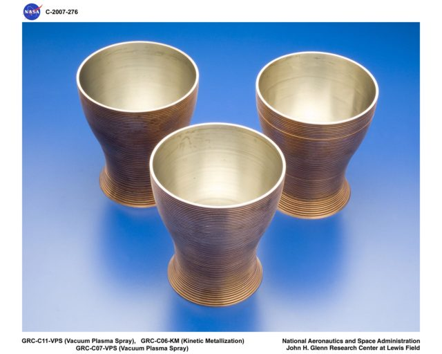 Machined Copper CGR-84 Thrusters GRC-2007-C-00276