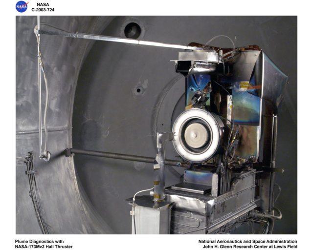 PLASMA DIAGNOSTICS - PLUME DIAGNOSTICS WITH NASA 173Mv2 HALL THRUSTER GRC-2003-C-00724