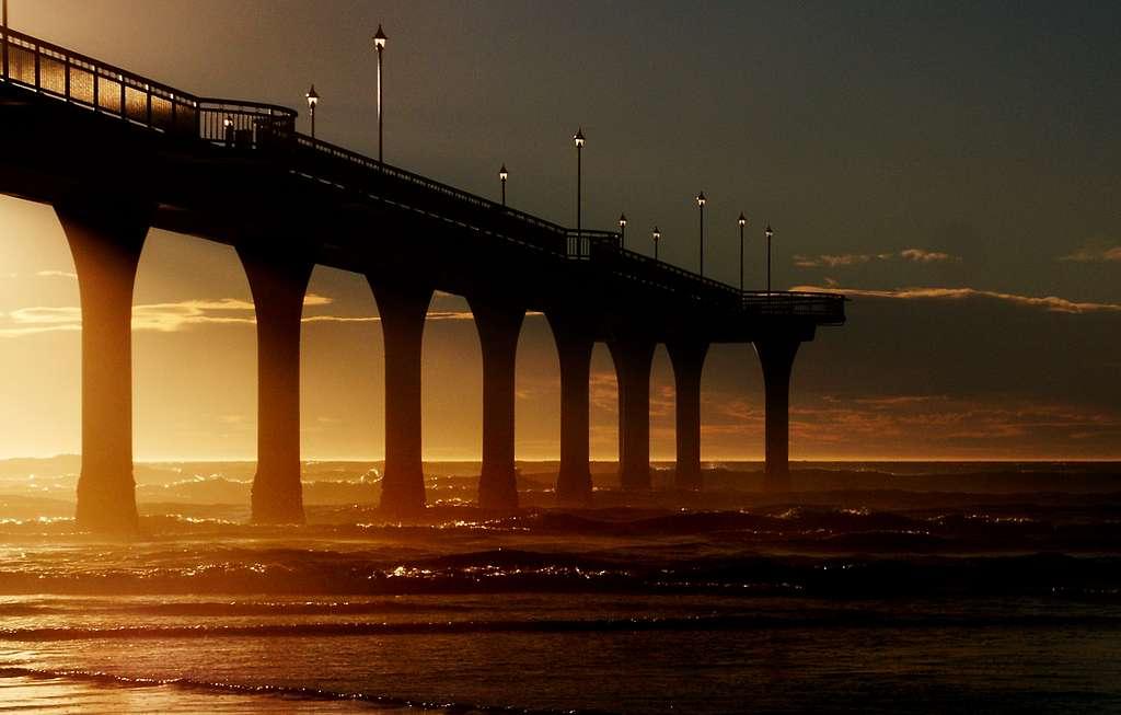 Dawn New Brighton Pier. NZ