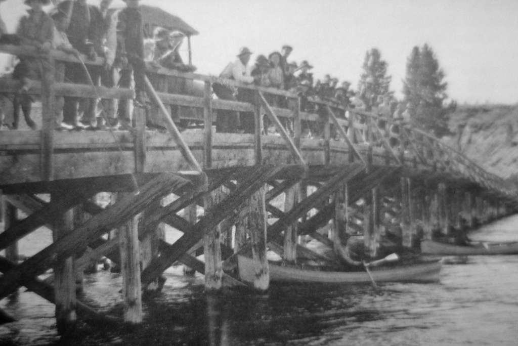 Original Fishing Bridge built in 1901; Photographer unknown; No date