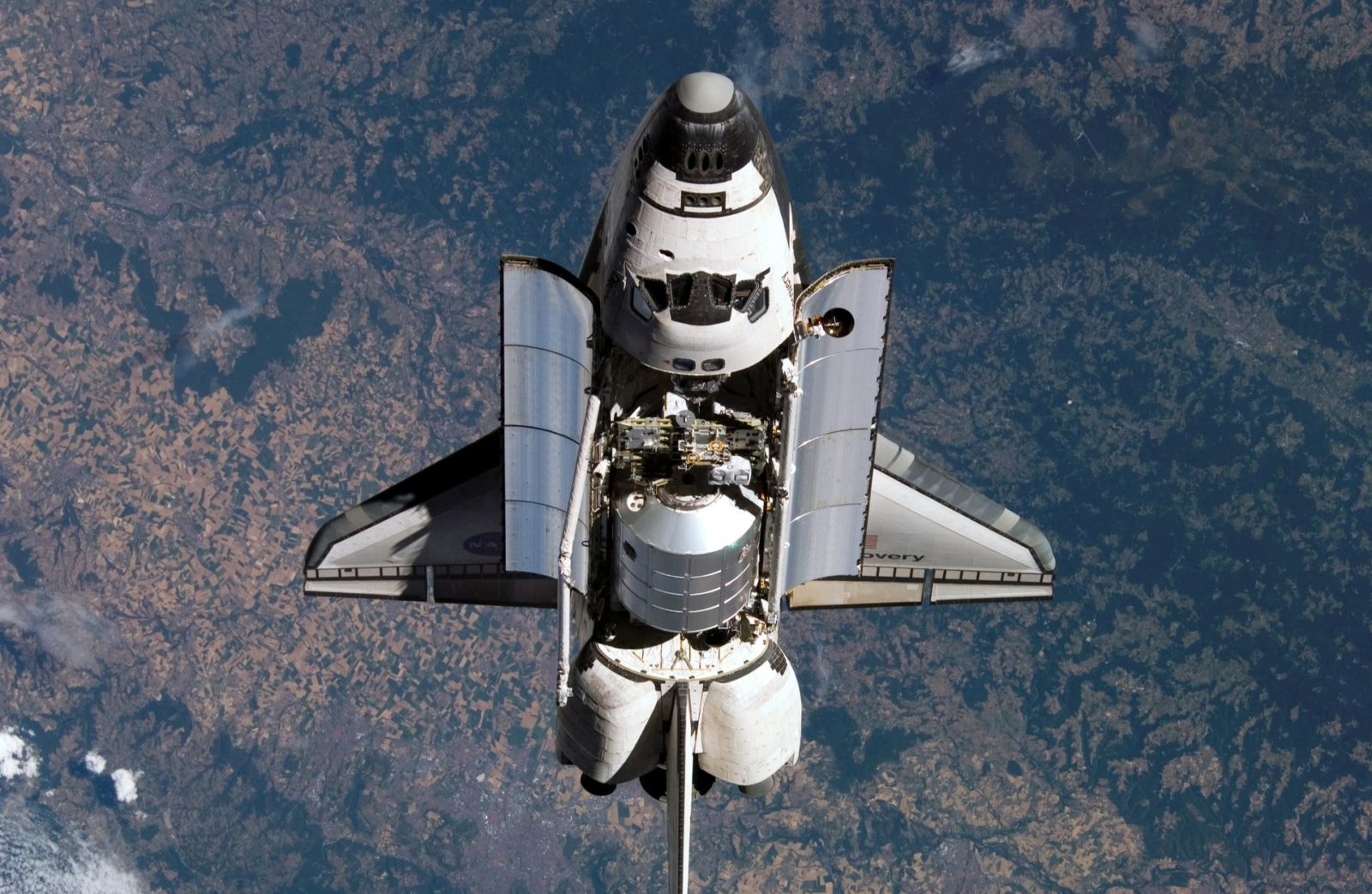 STS-114 Discovery's approach for docking